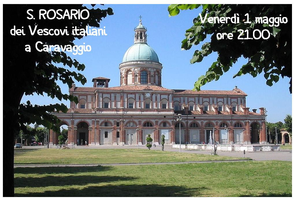 1° maggio a Caravaggio atto di Affidamento dell'Italia a Maria